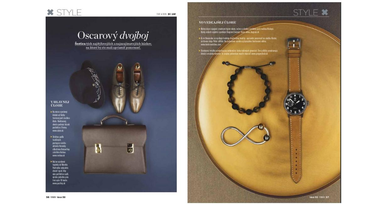 Strieborná hrkálka Infinity v časopise ForMen