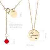 """""""My treasures"""" zlatý medailón s diamantami"""