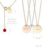 Medailón s retiazkou BABY - ružové zlato