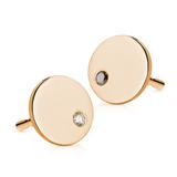 Designové zlaté náušnice s bielym a čiernym diamantom