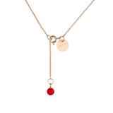 Medailón s 3 diamantmi - ružové zlato