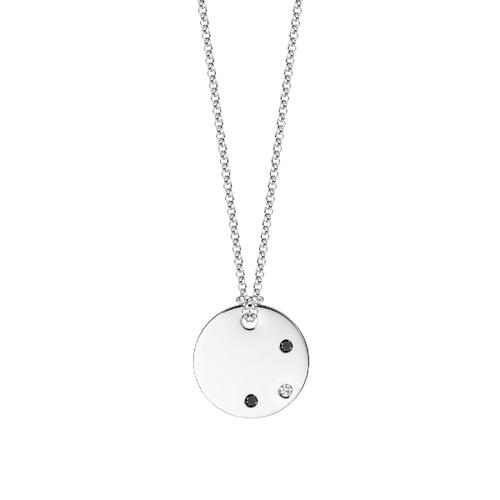 Medailón s 3 diamantmi - biele zlato