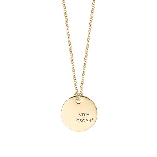Personalizovaný zlatý medailón s retiazkou