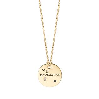 "Medailón s diamantmi na zlatej retiazke ""My treasures"""