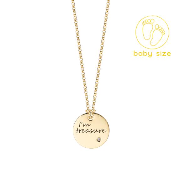 "Medailón s diamantom na zlatej retiazke ""I´m treasure"""