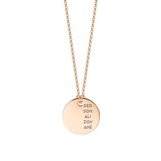 Personalizovaný zlatý medailón s retiazkou - rose