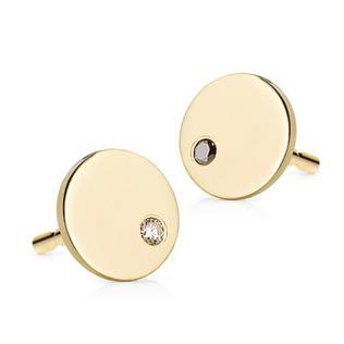 Zlaté dámske náušnice s diamantmi Lawova