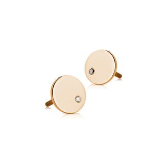 Zlaté detské náušnice s diamantami Lawova - ružové zlato